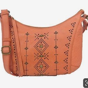 Lucky Newport Studded Crossbody Bag Orange